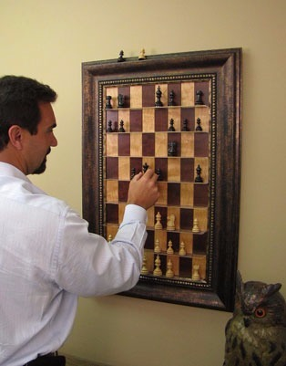 Vertical Chess Boards for Sale